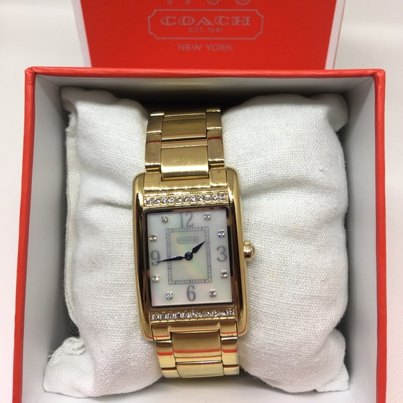 Coach Accessories - Coach watch Gold tone crystal bezel